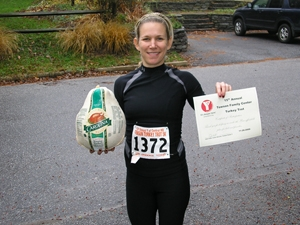 Sue at 5k YMCA Turkey Trot in Towson