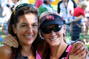 Mayra Krueger with Krista Schultz at Luray Triathlon