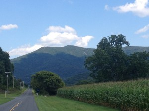 View along the Luray Triathlon bike course