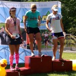 On the podium at Luray Triathlon