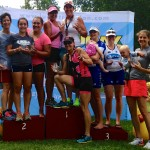 Luray Sprint Triathlon female relay winners