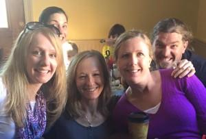 Krista Schultz with friends in New Orleans
