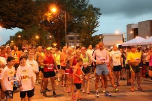 at start of galesburg half marathon